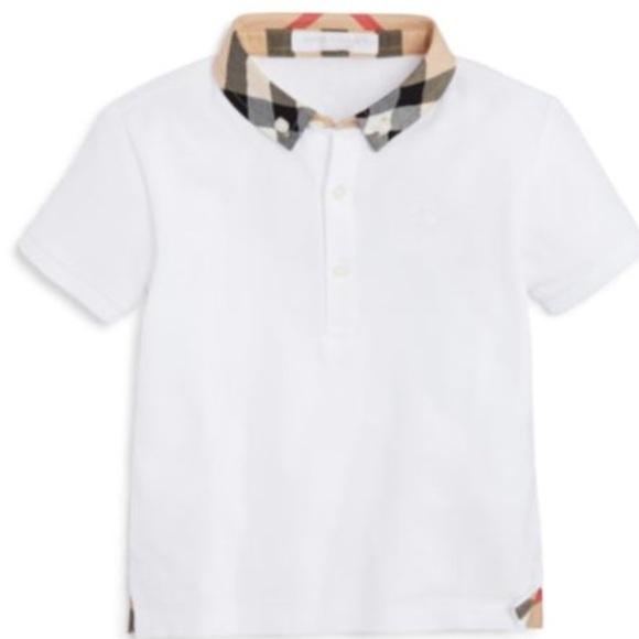 33177652 Burberry Shirts & Tops | Boys Mini William Check Collar Polo | Poshmark
